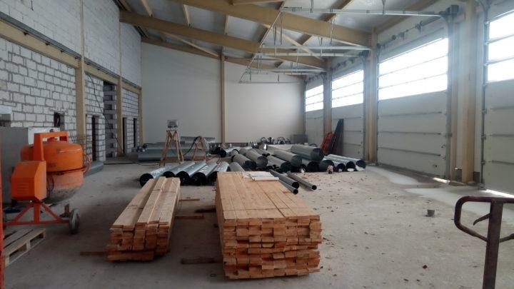 Продолжается строительство пожарного депо в п. Умба