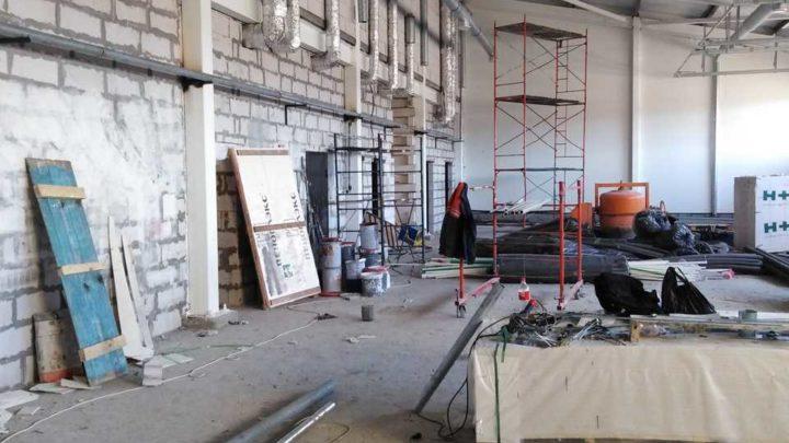 Продолжается строительство пожарного депо в п. Умбе