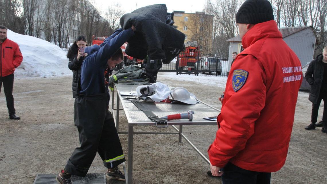 В областном центре Мурманский филиал ГПС МО провел городскую молодежную эстафету