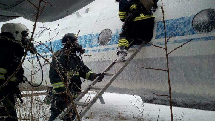 Кольский филиал ГПС МО принял участие в специальных учениях по ликвидации последствий аварийной посадки воздушного судна