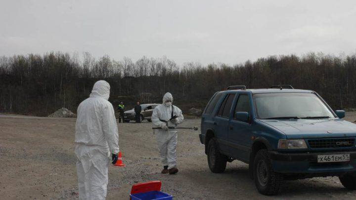 Прошла тренировка  с органами управления, силами и средствами,  задействованными в противодействии незаконному обороту радиоактивных материалов  на территории Мурманской области
