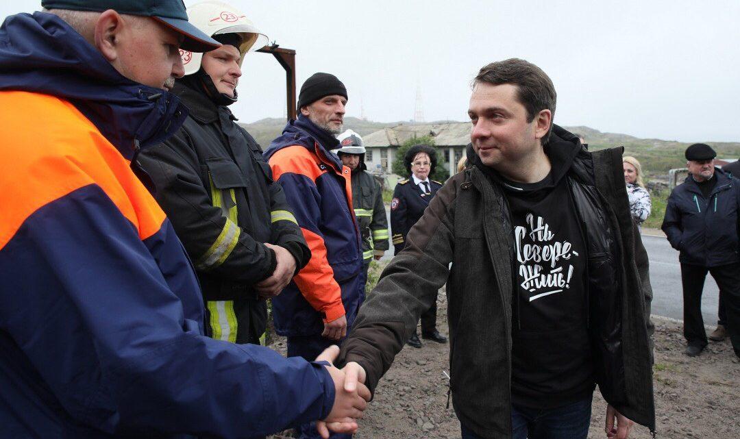 Работники Управления по ГОЧС и ПБ МО приняли участие в церемонии открытия мемориальной доски, посвященной первой спасательной станции на Мурмане