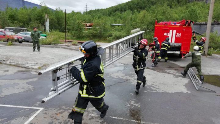 В Кировском филиале ГПС МО прошло первенство по пожарно-строевой подготовке