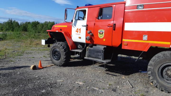 в ПЧ-41 п. Ревда прошел I этап по скоростному маневрированию среди водителей пожарных автомобилей