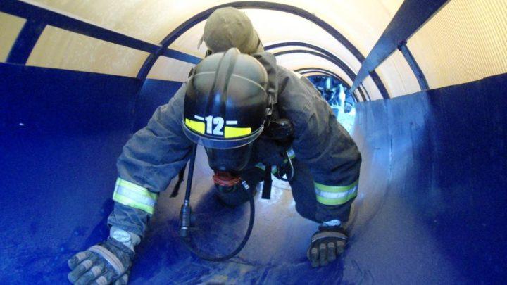 С газодымозащитниками ПЧ-12  г. Мурманска были проведены тренировочные занятия в непригодной для дыхания среде